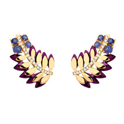 Purple Samambaia Colors Mini Earrings