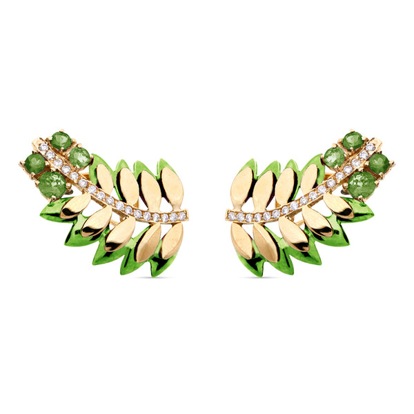 Green Samambaia Colors Mini Earrings