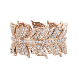 Rose Gold Magnipheasant Diamond Pavé Band Ring