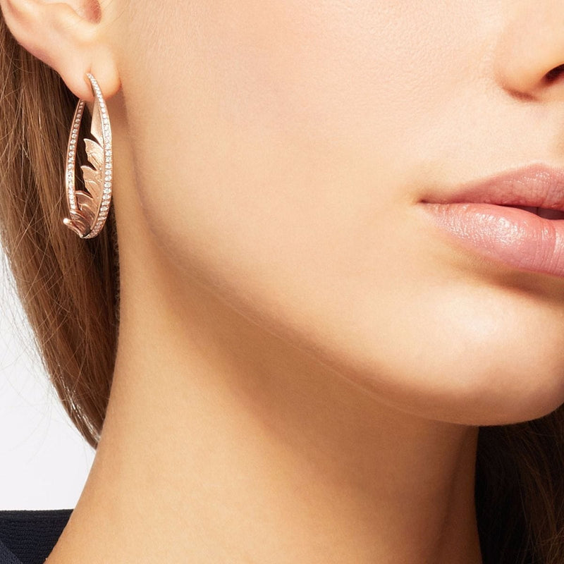 Magnipheasant Pavé Hoop Earrings