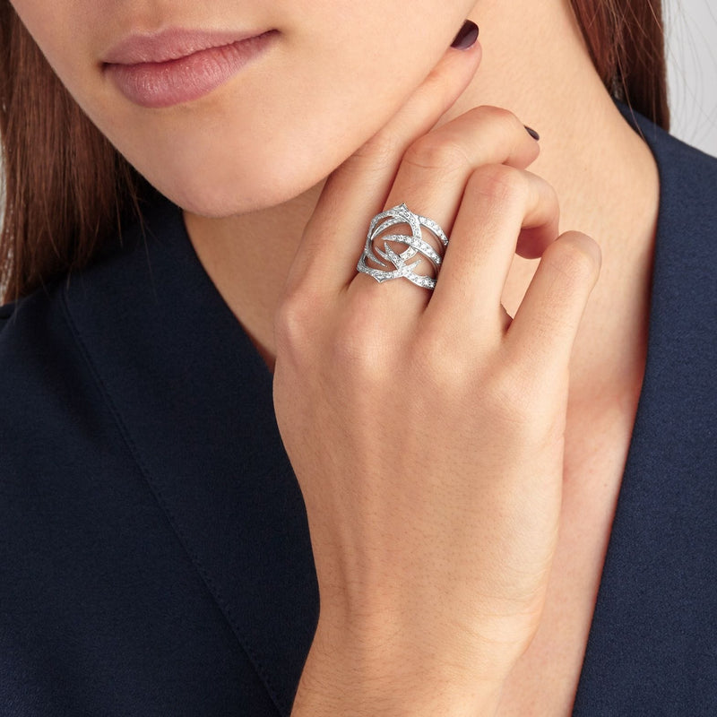 White Gold and Diamond Thorn Ring