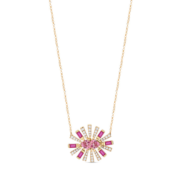 Large Ruby Sunshine Necklace