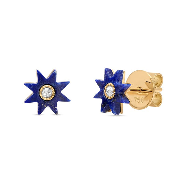 Colette Turquoise Stone Star Studs