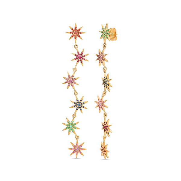 Colette Pearl Studded Star Earrings