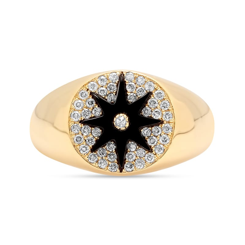 Colette Star Signet Onyx Ring