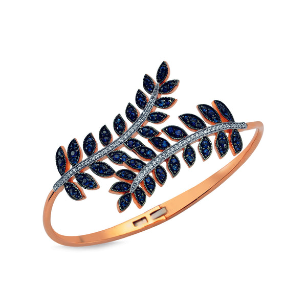 Sapphire Feather Cuff
