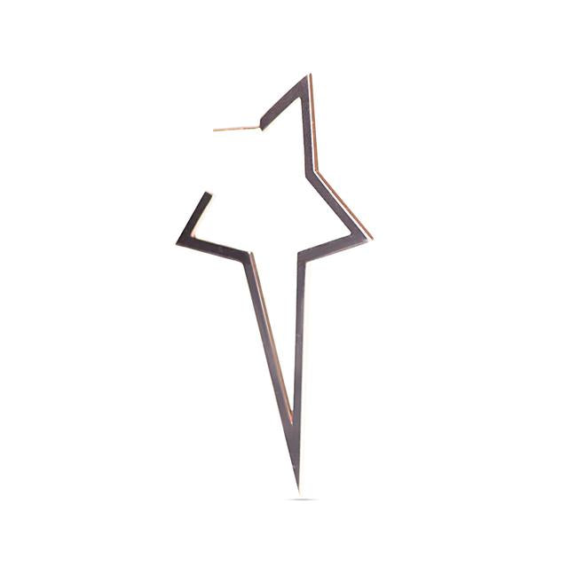 Two Tone Large Star Earring
