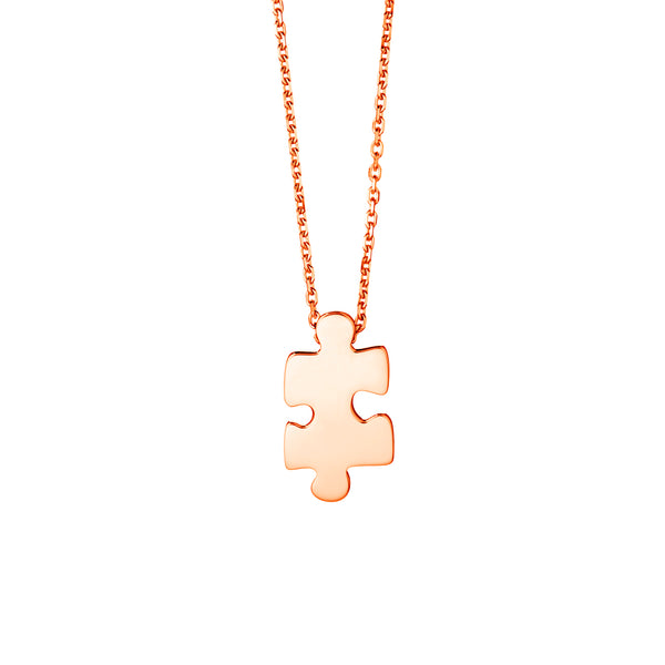 Mini Rose Gold Puzzle Pendant