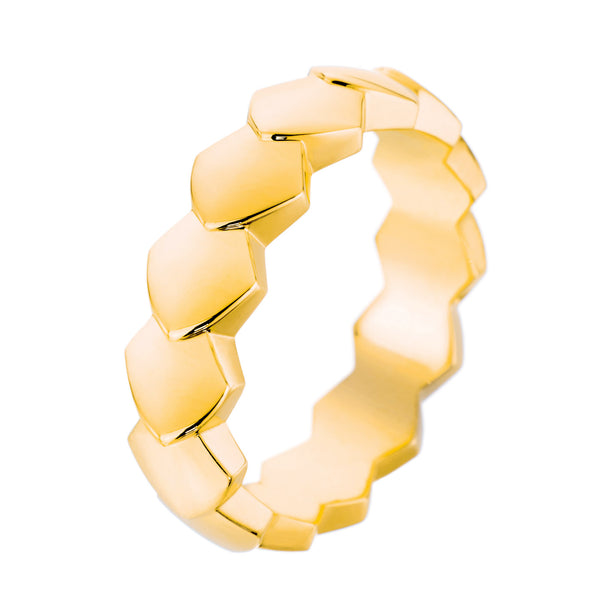 Yellow Gold Python Ring