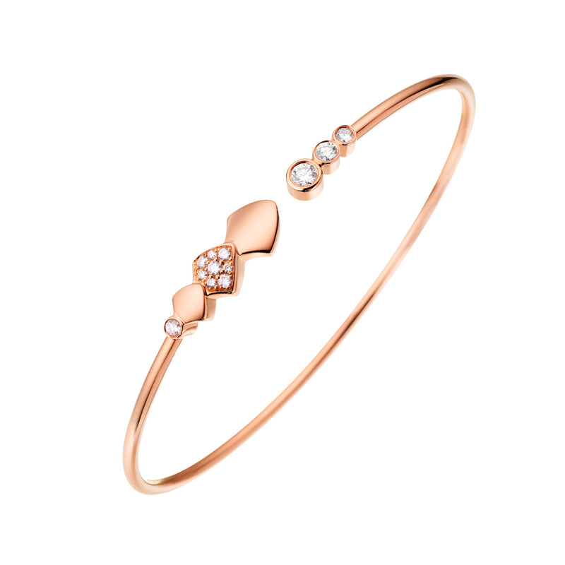 Rose Gold Diamond Python Bracelet