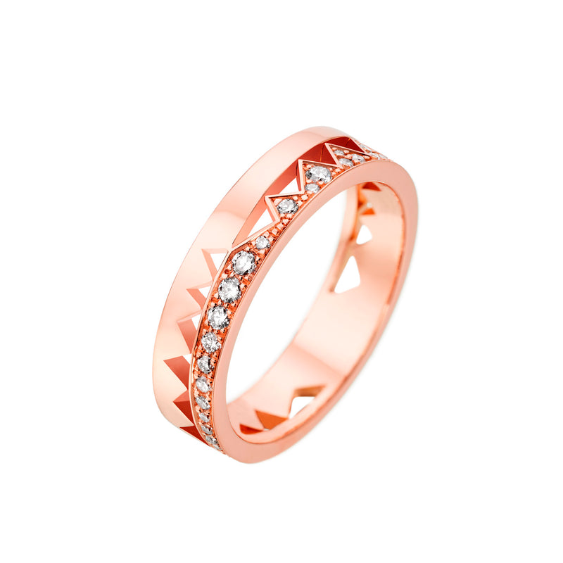 Rose Gold Half Diamond Capture Me Band Ring
