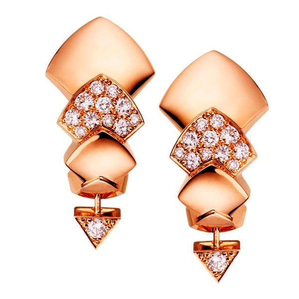 Rose Gold & Diamond Python Earrings