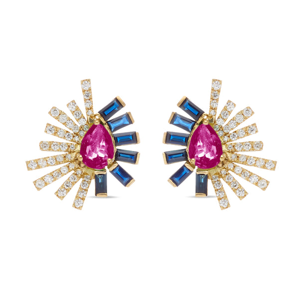 Rubilite Mini Earring La Belle Duo