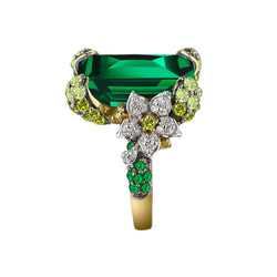 Lab-Grown Emerald Cinderella Ring