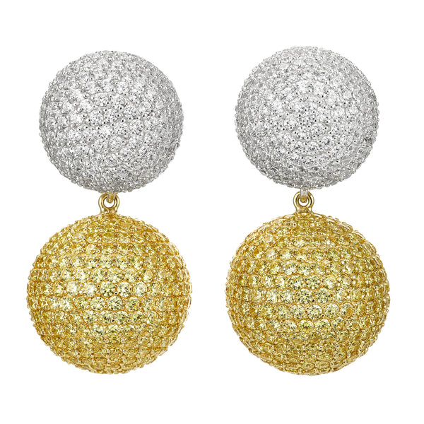 Lab-Grown Diamond Canary Bauble Earrings