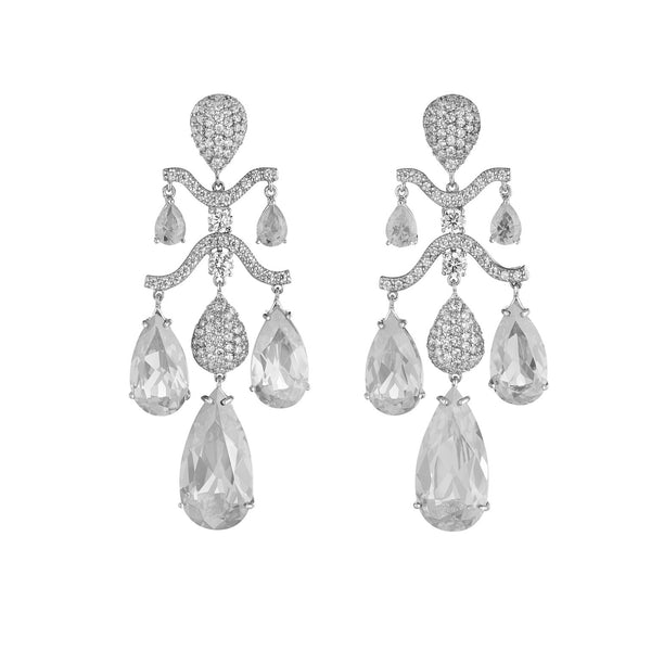 Lab-Grown Diamond Chandelier Earrings
