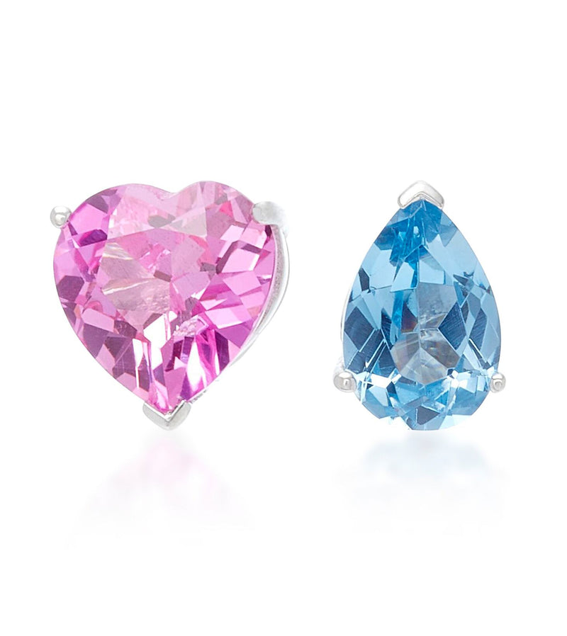 Lab-Grown Sapphire Love & Tears Stud Earrings