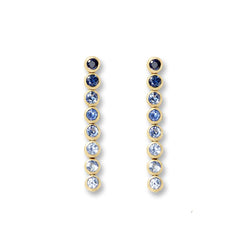 Blue Sapphire 8 Drop Earrings