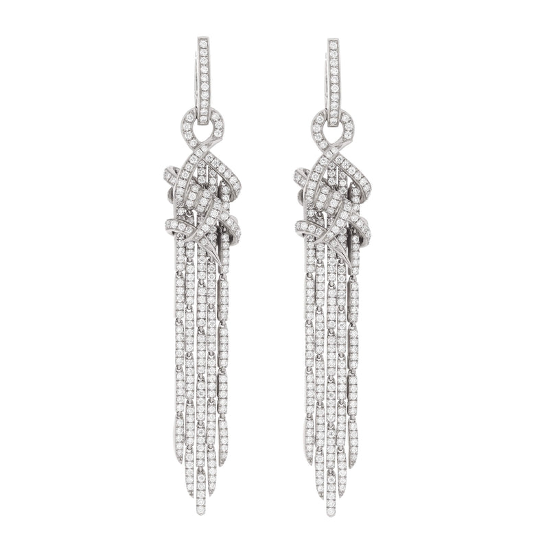 Thorn Knot Cascade Earrings