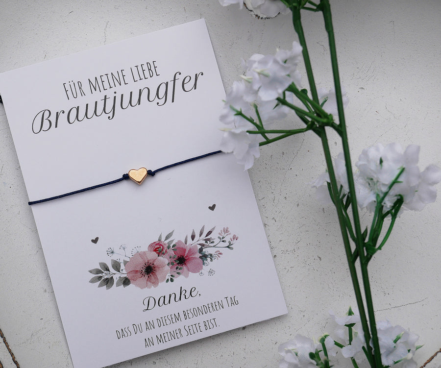 Schmuck Karte Brautjungfer