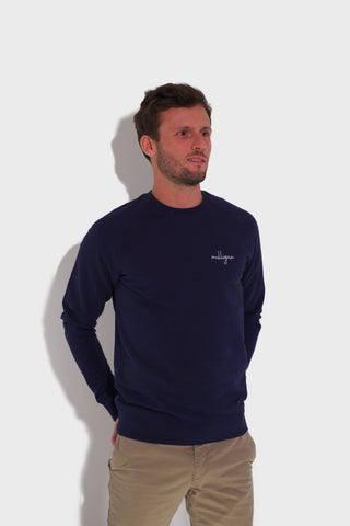 GLANG GOLF - LIFESTYLE - Sweat Dandy MULLIGAN - Heather Dark Blue