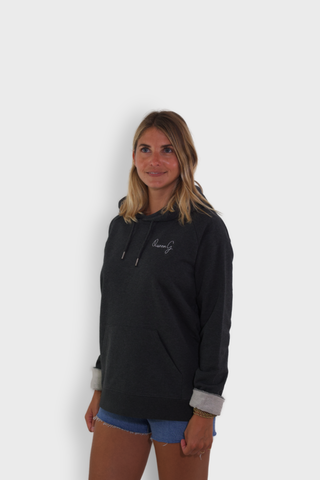 GLANG GOLF - LIFESTYLE. Hoodie Stellar QUEEN G - Dark Heather Grey
