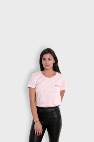 GLANG GOLF - LIFESTYLE. T-shirt Fame BABY CUT - Heather Pink