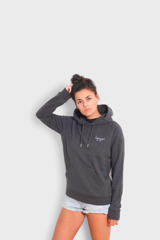 GLANG GOLF - LIFESTYLE. Hoodie Stellar BOGEY GIRL - Dark Heather Grey