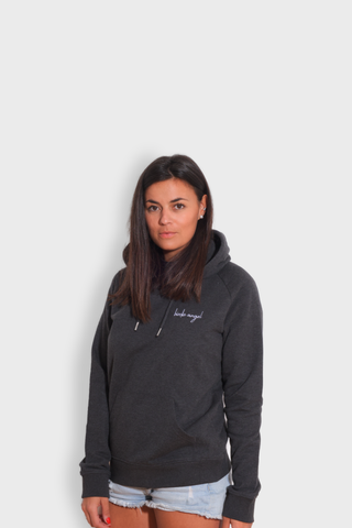 GLANG GOLF - LIFESTYLE. Hoodie Stellar BIRDIE ANGEL - Dark Heather Grey
