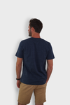 GLANG GOLF - LIFESTYLE. T-shirt Liberty MOVING DAY - Heather Denim