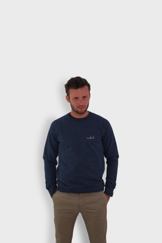 GLANG GOLF - LIFESTYLE. Sweat Dandy MUDBALL - Heather Blue Denim