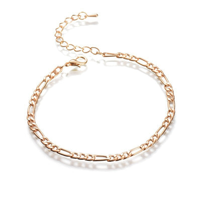 Arrivals Charm Foot Jewelry Simple Chains Of Gold Metal Leaves Leg Chain & Gold Anklet Designs - AccessoryStyle