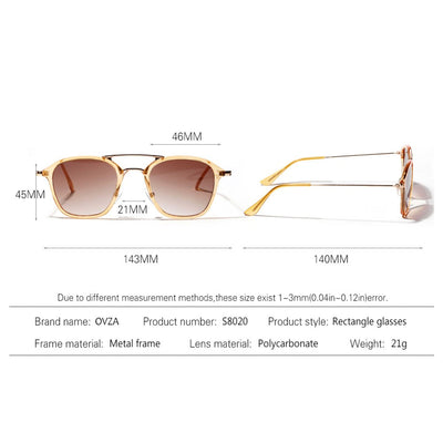 Rectangle Sunglasses Man Fashion Women Sunglass Beautiful Translucent Frame Glasses Brand Designed gafas de sol - AccessoryStyle