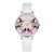 Flower Butterfly Ladies Bracelet Watch