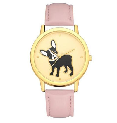 Women dog Printing Analog Quartz Wrist Watch - AccessoryStyle