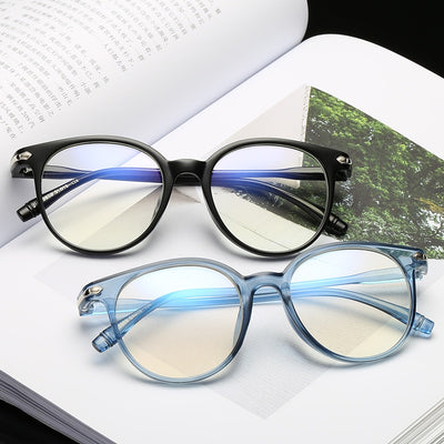Women Glasses Frame Men Anti Blue Light Eyeglasses Frame Vintage Round Clear Lens Glasses Optical Spectacle Frame - AccessoryStyle