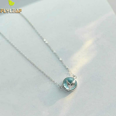 Flyleaf Mermaid Foam Necklaces & Pendants For Women 100% 925 Sterling Silver Lady Fashion Jewellery Drop Shipping - AccessoryStyle