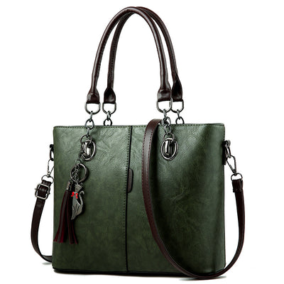 Women Bag Vintage Casual Tote Fashion Women Messenger Bags Shoulder student Handbag Purse Wallet Leather - AccessoryStyle