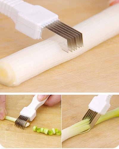 Vegetable Tool Cutter Cut Onion Scallion Knife In