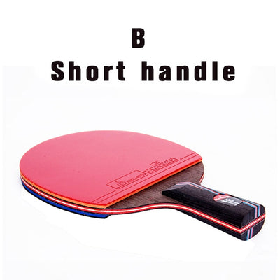 High quality carbon bat table tennis racket with rubber pingpong paddle short handle tennis table rackt long handle offensive