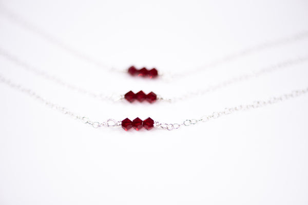 Silver Birthstone Necklace