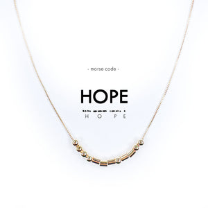 Morse Code Gold Necklace | HOPE