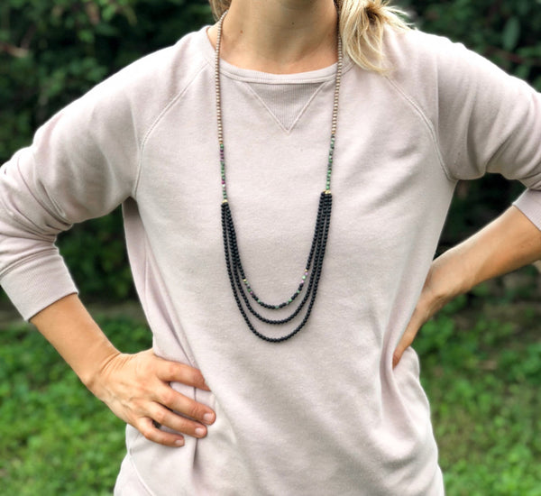 Morse Code Layer Necklace