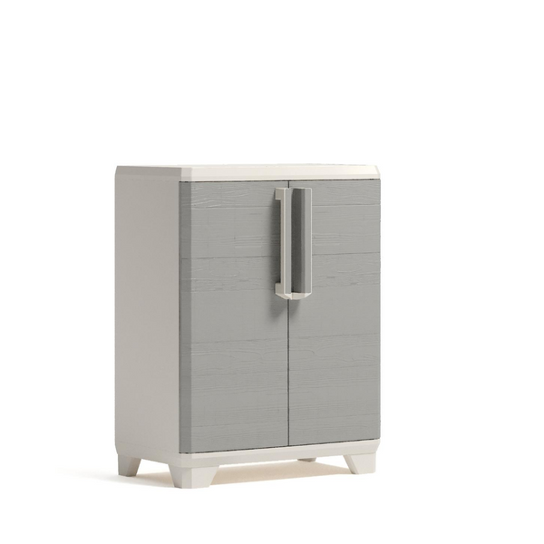 Linear Wood Base Outdoor Cabinet