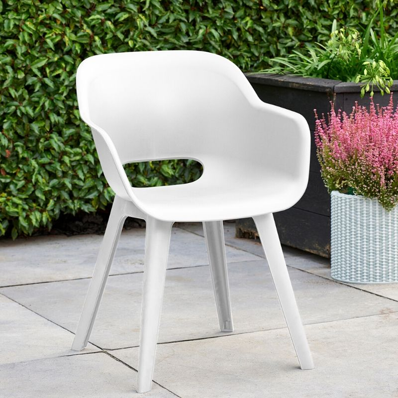 Set of 2: Akola Dining Chair - White