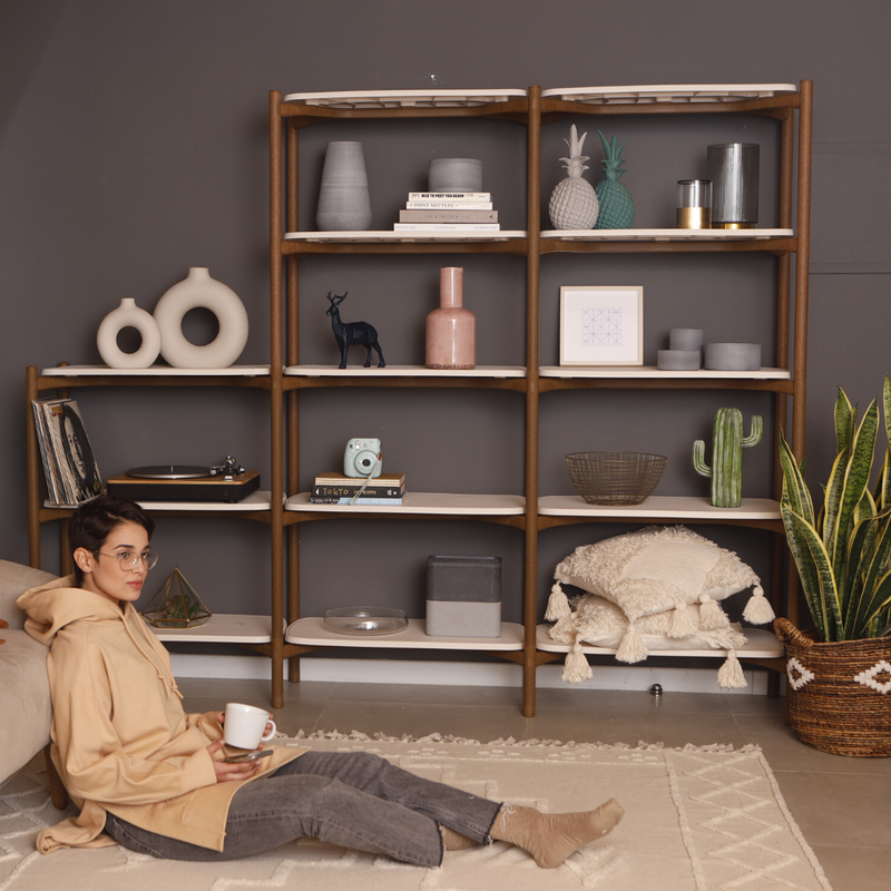 Modular Indoor Shelving: 3-Tier add on