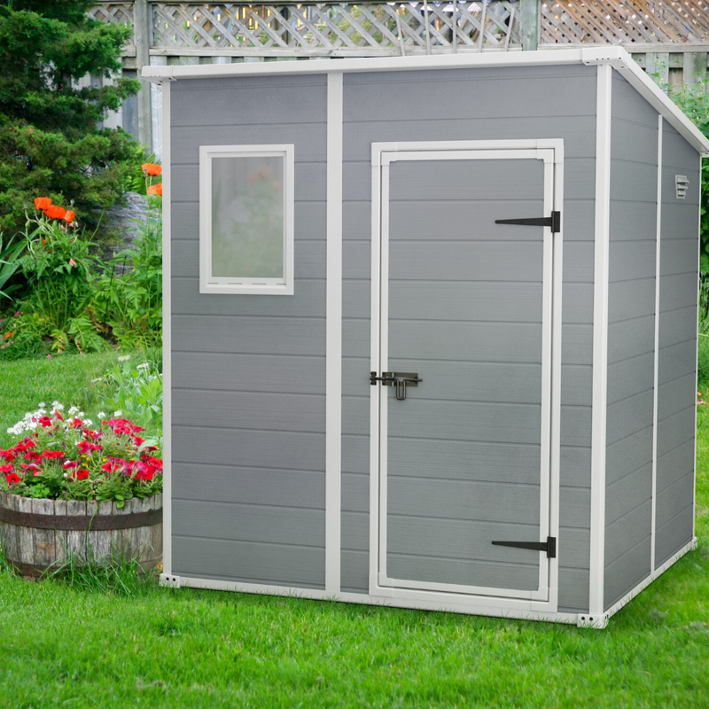 Manor 6x6ft Shed - Light Grey