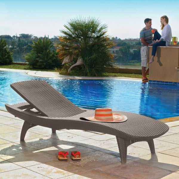Pacific Sun Lounger: Set of 2 - Cappuccino