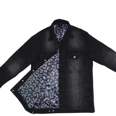JeFor Black Denim Jean Jacket
