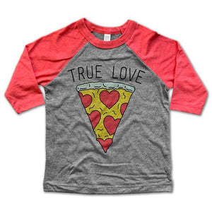 Rivet Apparel True Love Pizza Baseball Tee (4867236102191)